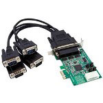 Startech 4 Port Low Profile Native RS232 PCI Express Serial Card With 16950 UART - Serial Adapter - 4 Ports