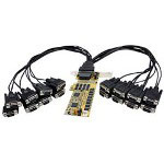 Startech 16 Port Low Profile RS232 PCI Express Serial Card - Cable Included - Serial Adapter - 16 Ports