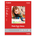 Canon GP-601 Glossy Photo Paper, 8 1/2 x 11, 56 lb, 100 Sheets/Pack