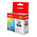 Canon Ink Cartridge BCI 24 for S200, S300, S330; i250, i320, i350, & Others, Black
