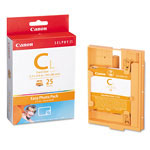 Canon E-C25L Easy Photo Ink/Label Set, 25 Credit Card Size Sheets, For Selphy Es1