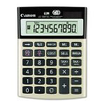 "Canon 10-Digit Calculator, Dual Power, 4-1/8"" x 5-1/2"" x 1-1/3"", Black"