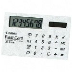 "Canon LS716H Calculator, Solar, Card Size, 8 Digit,3 1/2""Wx2 1/8""Dx1/3""H"