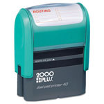 "Cosco Jumbo Stamp, Dual Pad, ""Routing"", Print Area 15/16""x2-3/8"", black"