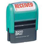 "Cosco Jumbo Stamp, Dual Pad, ""Received"", Print Area 15/16""x2-3/8"", BK"