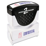 Consolidated Stamp Accustamp2 Shutter Stamp with Microban, Red/Blue, CONFIDENTIAL, 1 5/8 x 1/2