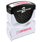Consolidated Stamp Accustamp2 Shutter Stamp with Microban, Red, CONFIDENTIAL, 1 5/8 x 1/2