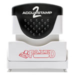 Consolidated Stamp Accustamp2 Shutter Stamp with Microban, Red, FAXED, 1 5/8 x 1/2