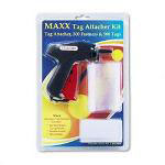 "Consolidated Stamp Tag Attacher Kit: Tag Attacher Gun, 500 2"" Tag Fasteners, 500 White Tags"
