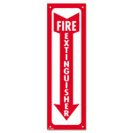 Consolidated Stamp Glow-In-The-Dark Safety Sign, Fire Extinguisher, 4 x 13, Red