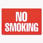Consolidated Stamp Two-Sided Signs, No Smoking/No Fumar, 8 x 12, Red