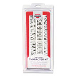 Consolidated Stamp Helvetica Sign Character Kit, White