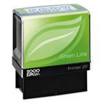 Cosco 2000 PLUS Green Line Message Stamp, Copy, 1 1/2 x 9/16, Blue