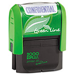Cosco 2000 PLUS Green Line Message Stamp, Confidential, 1 1/2 x 9/16, Blue