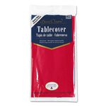 Creative Converting Plastic Tablecovers, 54 x 108, Real Red