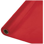 "Creative Converting Plastic Table Cover, 40"" x 1000', Red"