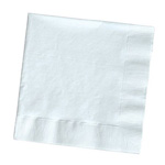 Creative Converting Beverage Napkins, White, 12 Packs of 50