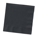 Creative Converting Beverage Napkins, Black, 12 Packs of 50