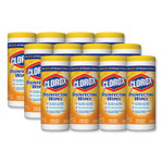 Clorox Commercial Solutions® Disinfecting Wipes, Lemon Scented, Case of 12