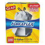 Glad Drawstring 13 Gallon ForceFlex Tall Kitchen Bags, .95 mil, 24 x 28