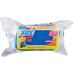 S.O.S. Scrubber Sponge, All Surface, 3/Pack, Blue