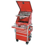 "CPL Tool Management Systems Red 26"" Crossover 6-Drawer Top Chest and Roller Cabinet"