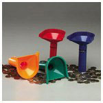 PM Company Coin Counting Tubes, Color Coded, Red/Blue/Green/Orange, Set of Four
