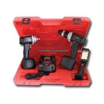 "Chicago Pneumatic 3/8"" Drive 12 Volt Cordless Impact Wrench, Drill and Light Kit"