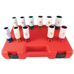 "Chicago Pneumatic 11 Piece 1/2"" Drive Metric and SAE Wheel Nut Protector Impact Socket Set"