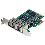 Startech 7 Port PCI Express Low Profile High Speed USB 2.0 Adapter Card - USB Adapter - 7 Ports