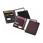 Cardinal Expand A Pocket® Pad Holder w/Calculator & Pad, Black w/Brass Corners