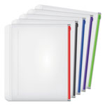 Cardinal Expanding Zipper Binder Pocket, 11 x 8 1/2, Assorted, 5/Pack