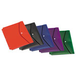 Cardinal Dual Pocket Snap Envelope, 11 x 8 1/2, Assorted Colors, 5/Pack