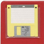 "Cardinal 21700 Data Disk Pockets, 3 1/2"" x 3 1/2"", Clear"