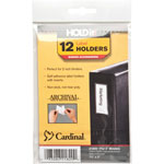Cardinal Label Holder, 1 3/8'' x 3'', 12/Pack, Clear