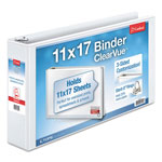 "Cardinal Brands ClearVue™ ClearVue™ 3"" View Binder, White"
