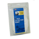 "Carrand Terry Cotton Polishing Bonnet, 5"" - 6"", for Application and Removal of Wax, Polish and Compounds"
