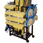 Carrand Cleaning Brush Rolling Rack - Empty