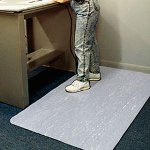 Ludlow Composites Cushion Step™ Vinyl Anti-Fatigue Mat, 2' x 3', Gray