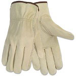 Memphis Glove Economy Leather Driver Gloves, Large, Beige