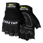 Memphis Glove Cheetah 935CHFL Fingerless Gloves, Large, Black