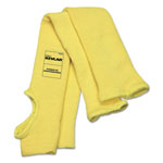 MCR Safety Economy Series DuPont Kevlar Fiber Sleeves, One Size, Yellow, 1 Pair