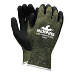Memphis Glove KS-5 Latex Dip Gloves, 13 gauge, Green/Black, Large