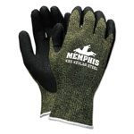Memphis Glove KS-5 Latex Dip Gloves, 13 gauge, Green Black, Small
