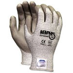 Crews Memphis Dyneema Polyurethane Gloves, Medium, White/Gray
