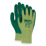 MCR Safety Memphis Glove Green Bamboo Coated Gloves, Large, 1 Dozen