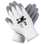Crews Ultra Tech Foam Seamless Nylon Knit Gloves, Extra Large, White/Gray