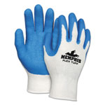 Memphis Glove Flex Tuff Work Gloves, White/Blue, Medium, 10 gauge, 1 Dozen