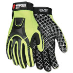 Memphis Glove Cut Pro MC500 Gloves, High Vis Lime/Black, Medium