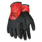 Memphis Glove Ninja N96785 Full Nitrile Dip BNF Gloves, Red/Black, Large, 1 dozen